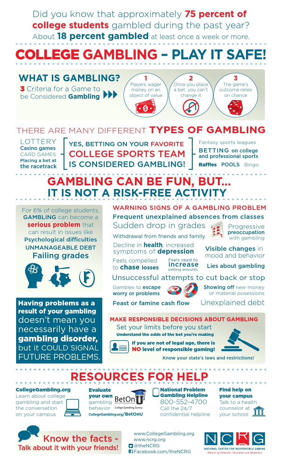 College gambling facts rivers casino chicago poker room
