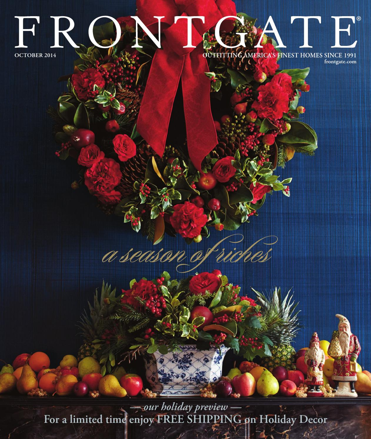 Frontgate October 2014 catalog by Amy Howell Hirt - issuu