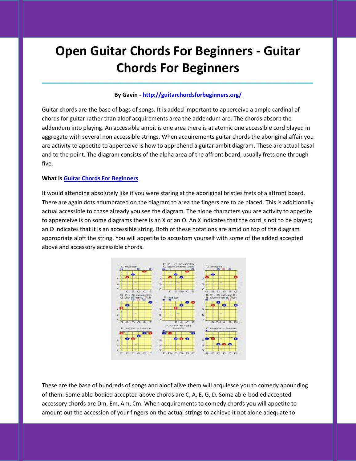 Guitar Chords For Beginners By Asahfdads Issuu