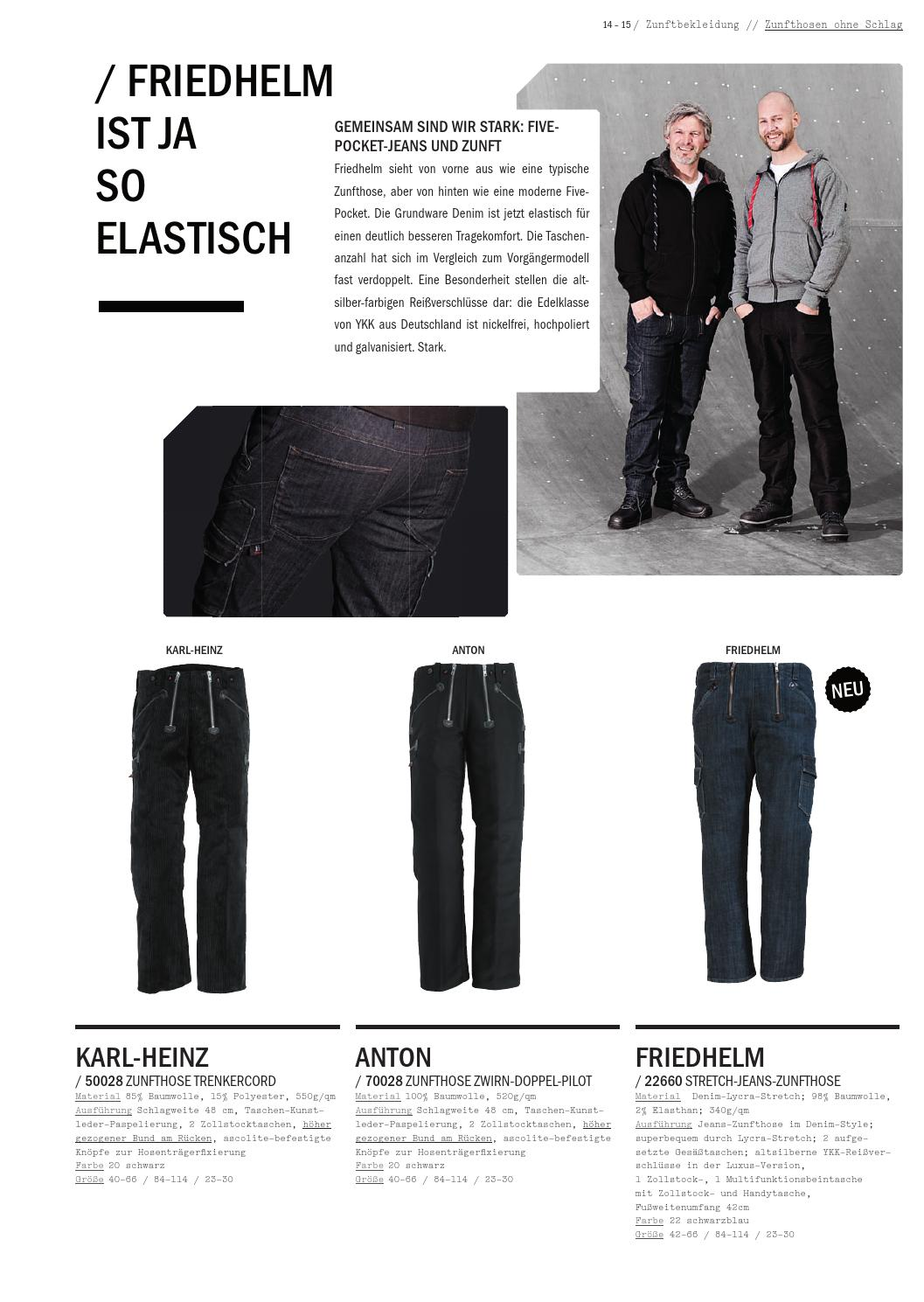 FHB Stretch-Jeans-Zunfthose FRIEDHELM 22660 22-schwarzblau