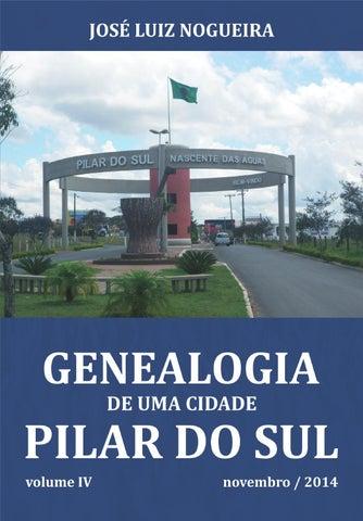 7ac5389e94c Livro genealogia de uma cidade pilar do sul conteúdo by fabio ...