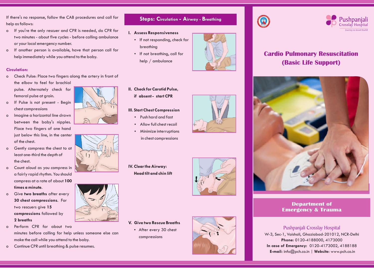 Cpr brochure by Pushpanjali Crosslay Hospital - issuu