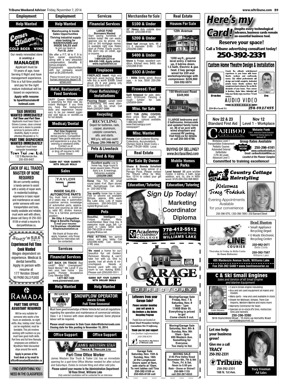 Williams Lake Tribune, November 07, 2014 by Black Press - issuu