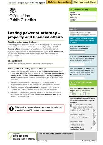 Lpa117 Property Financial Affairs Lpa By Richardtomlinson335 Issuu