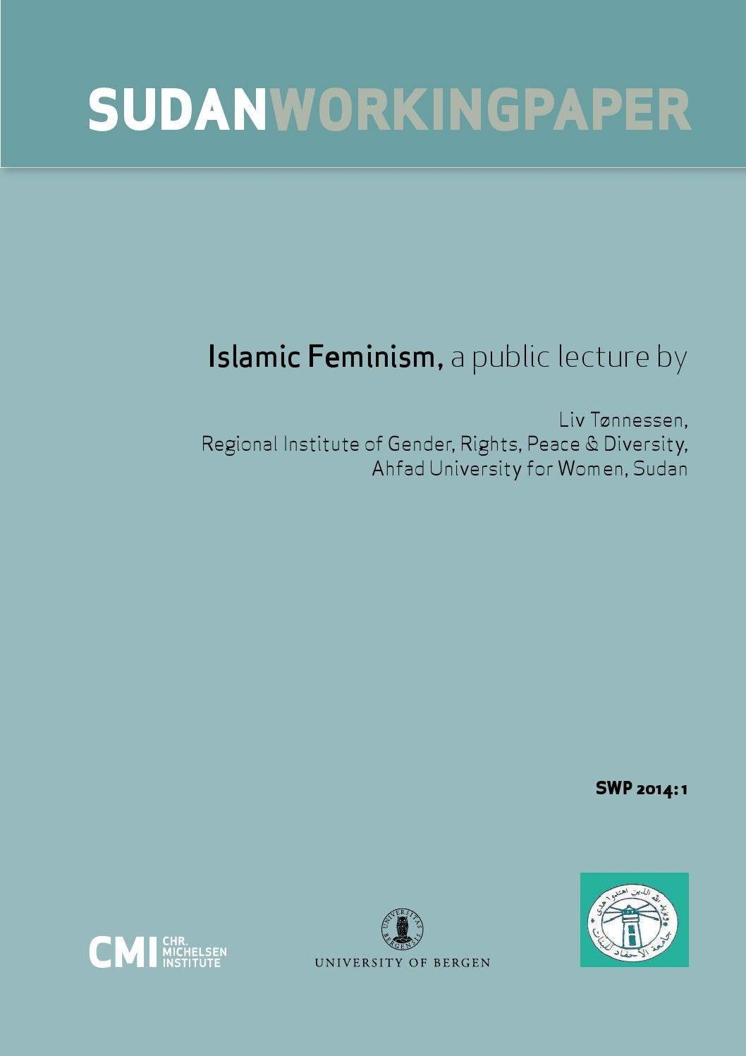 Islamic Feminism, a public lecture by by CMI Chr  Michelsen