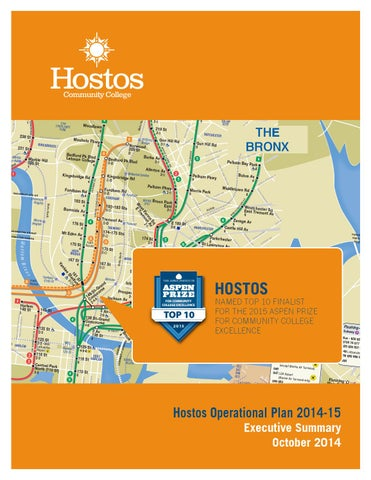 Hostos Campus Map.Hostos Operational Plan Executive Summary 2014 2015 By Hostos