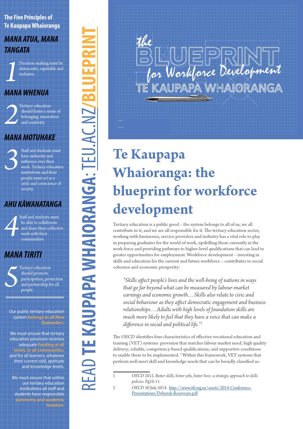Te kaupapa whaioranga the blueprint for workforce development by te kaupapa whaioranga the blueprint for workforce development by tertiary education union issuu malvernweather