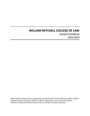 2014 15 student handbook by william mitchell college of law issuu