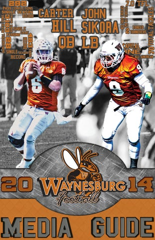 2014 Football Media Guide by Waynesburg University issuu  free shipping