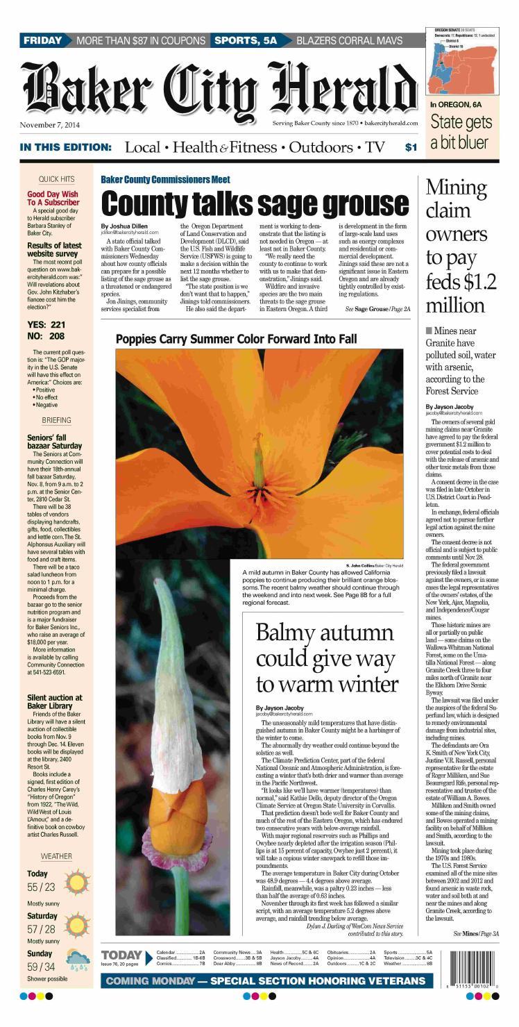 Baker City Herald Paper 11-7-14 by NorthEast Oregon News - issuu