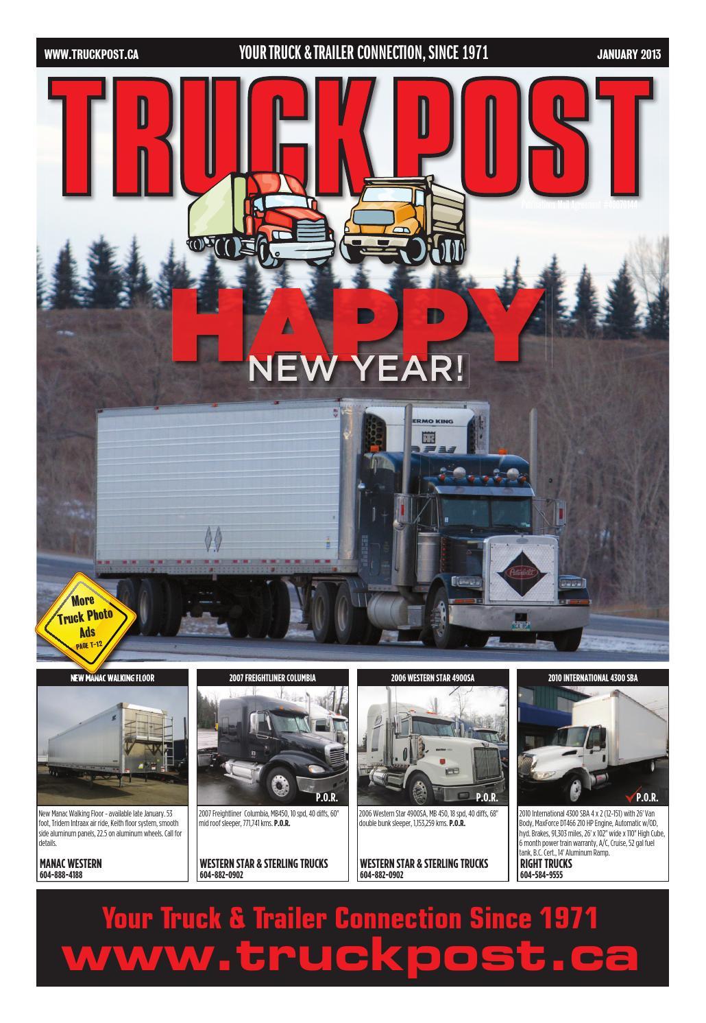 Truck Post Jan 2013 By Supply Newspaper Issuu Crane Ignition Wiring Diagram T300 Kenworth