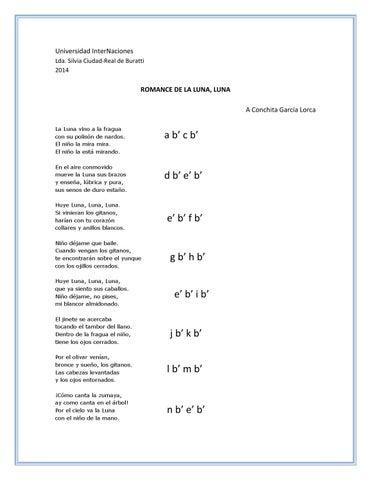 Análisis Romance De La Luna Luna By Mariana Cabrera Issuu