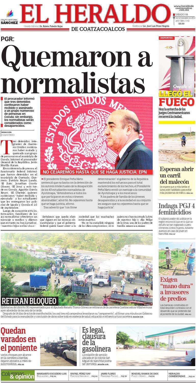 El Heraldo de Coatzacoalcos 8 de Noviembre de 2014 by El Heraldo de ...