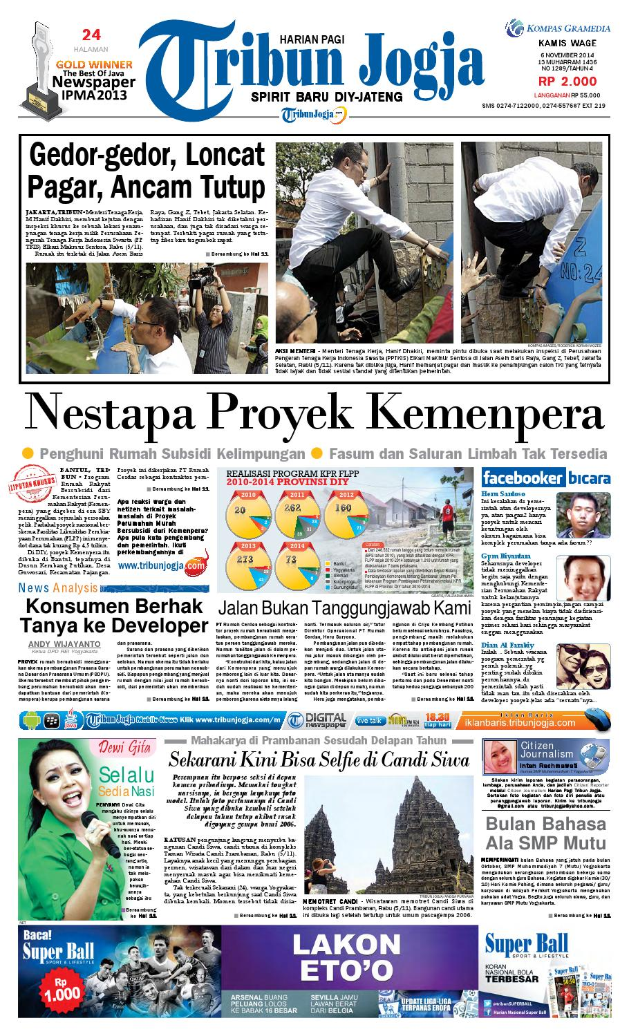 Tribunjogja 06 11 2014 By Tribun Jogja Issuu Fcenter Meja Rias Siantano Mr 905 Jawa Tengahdiyjawa Timur