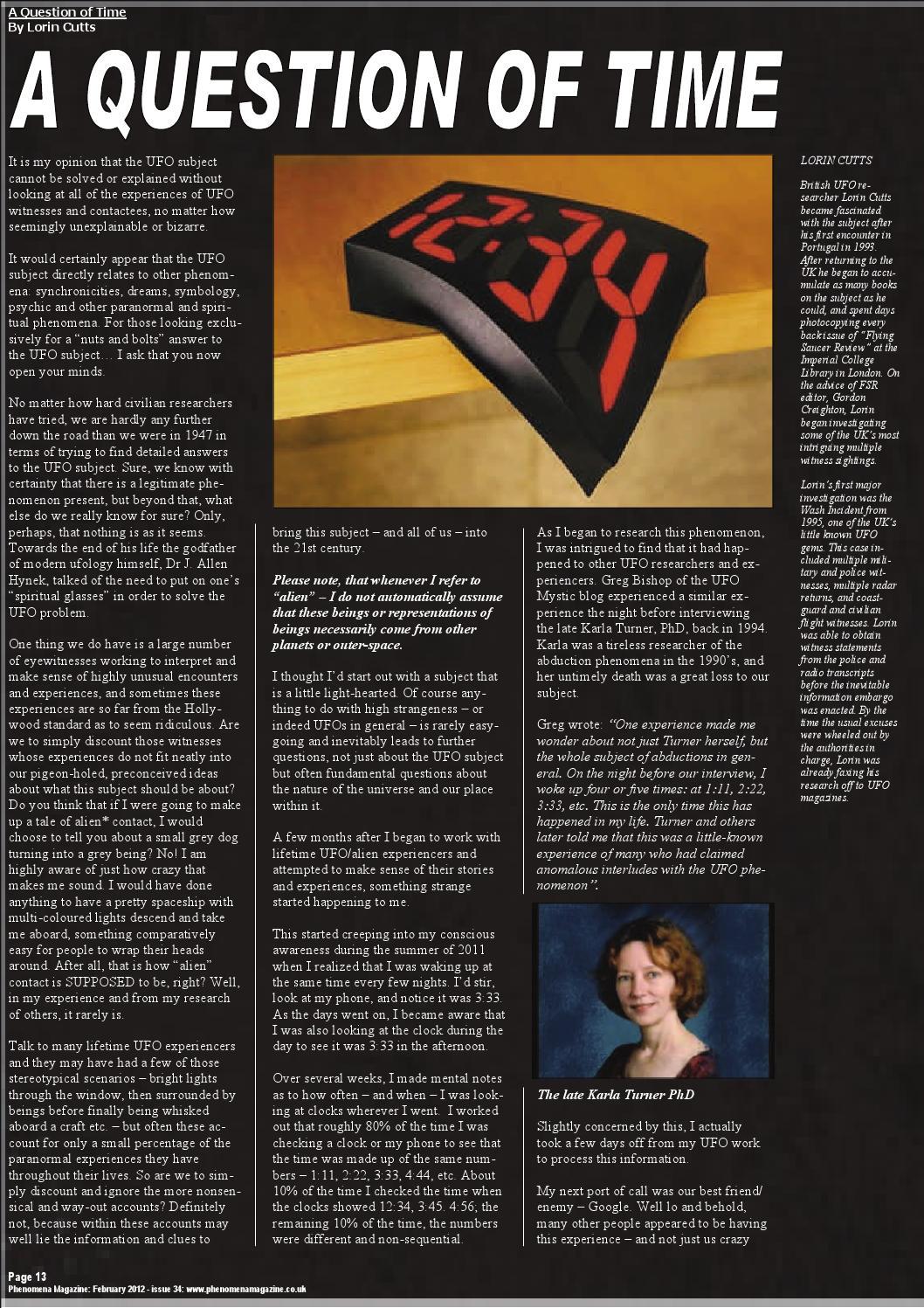 Phenomena Magazine - February 2012 - Issue 34 by Steve Mera - issuu