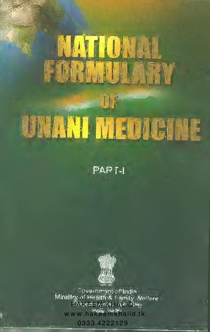 National formulary of unani medicine by Hakim Khalid - issuu