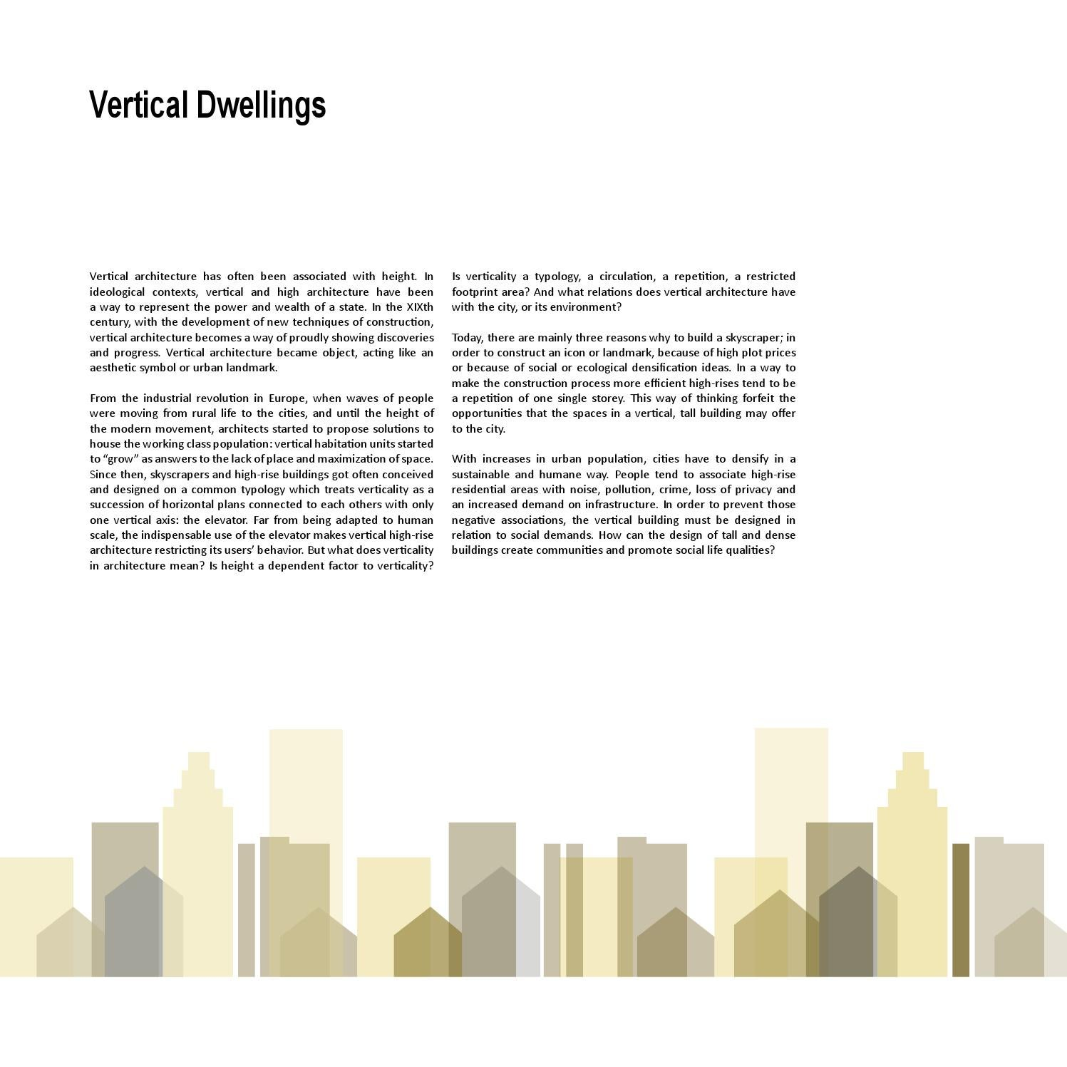 Dwelling Typologies By Advanced Architectural Design