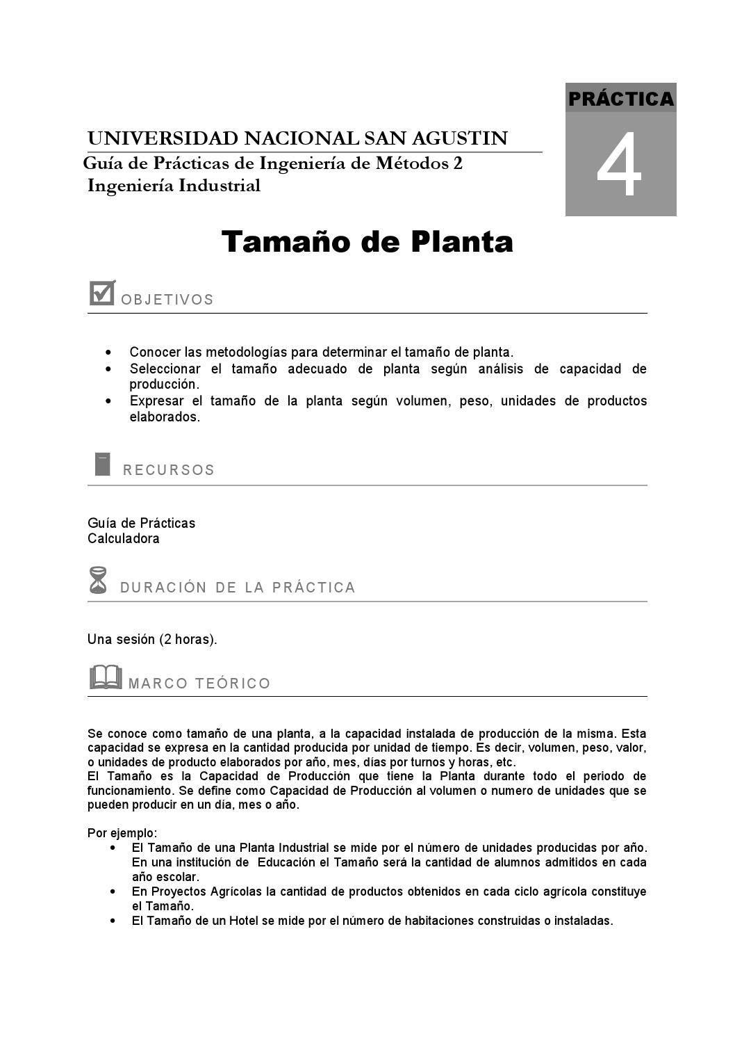Guia4b tamaño de planta 2010 by AlejanDra Paola - issuu