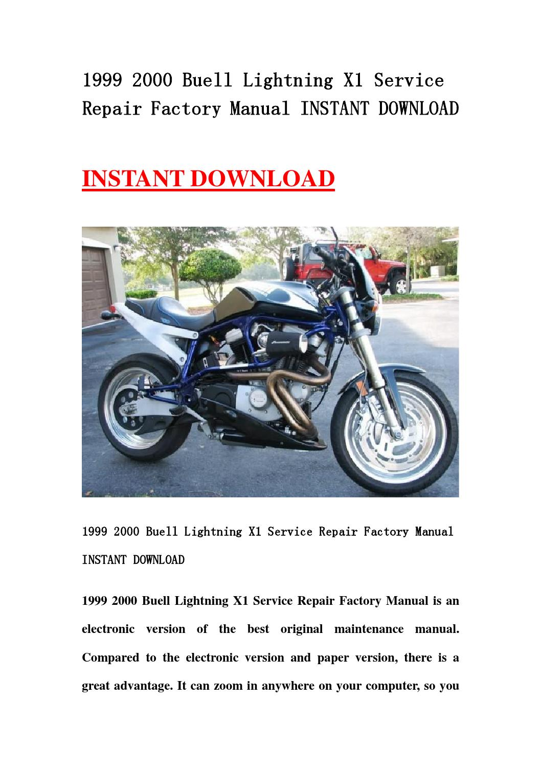 1999 2000 Buell Lightning X1 Service Repair Factory Manual border=