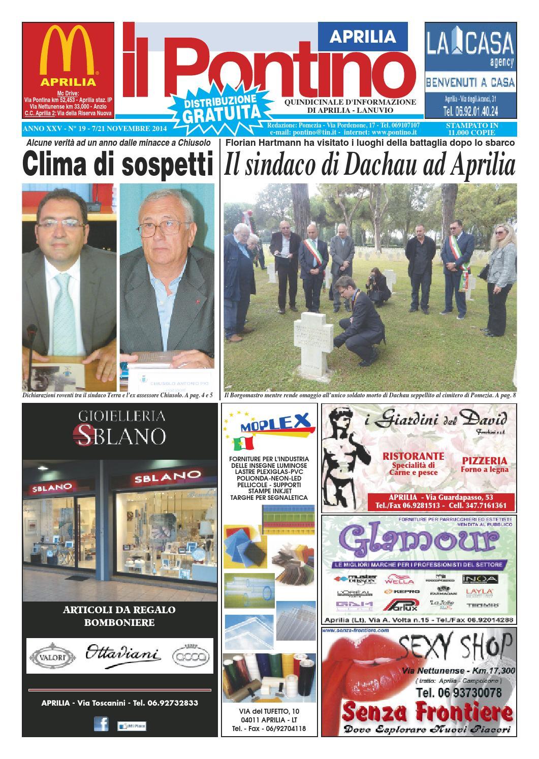 finest selection 82bfe b5d8f Il Pontino Aprilia n. 19 - 7 21 Novembre 2014 by Il Pontino Il Litorale -  issuu