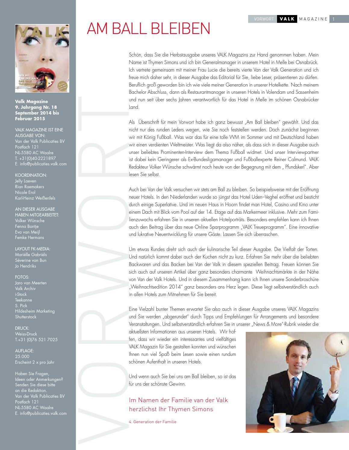 2014 09 Vdv Magazin Web By Van Der Valk Hotel Restaurants