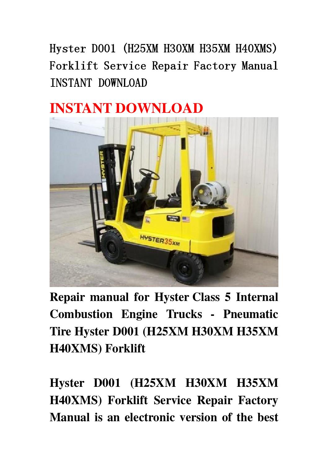Hyster manual Download
