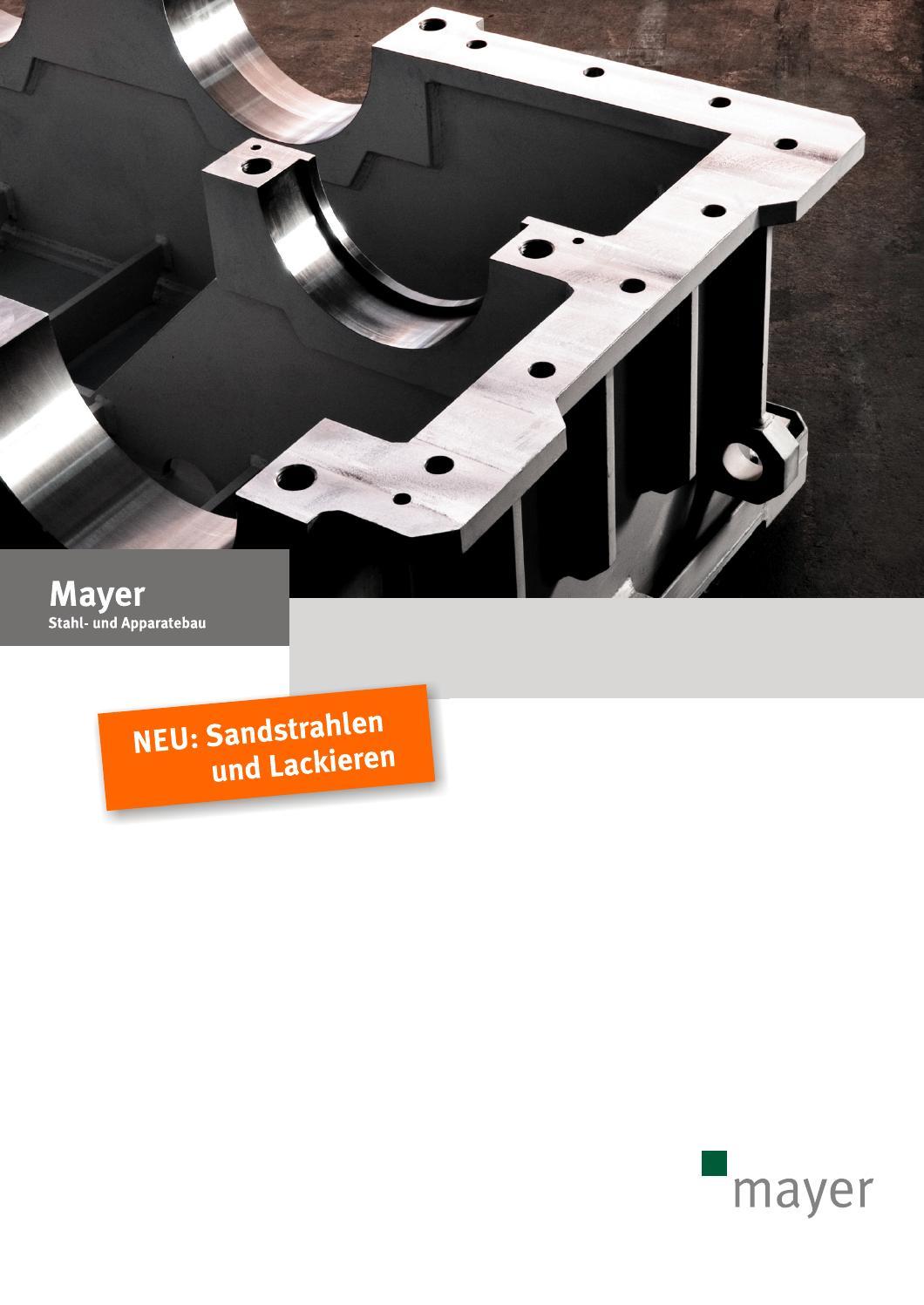 mayer stahl- und apparatebau sandstrahlen und lackieren by mayer - issuu