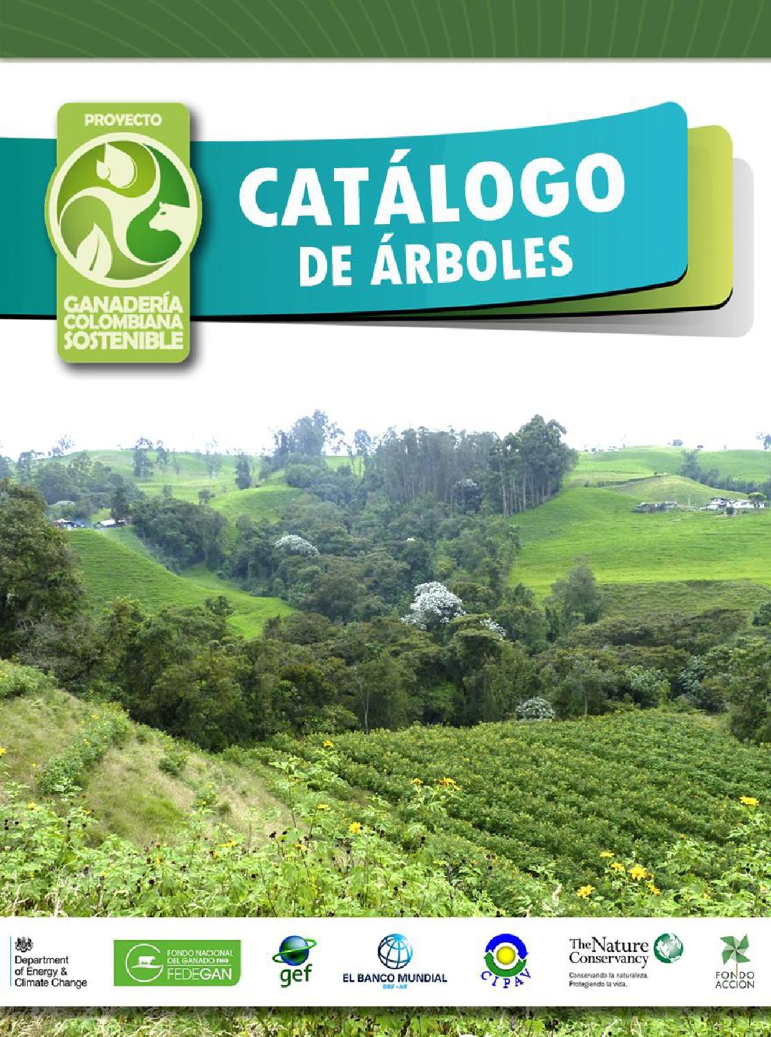 catalogo de arboles proyecto ganaderia colombiana