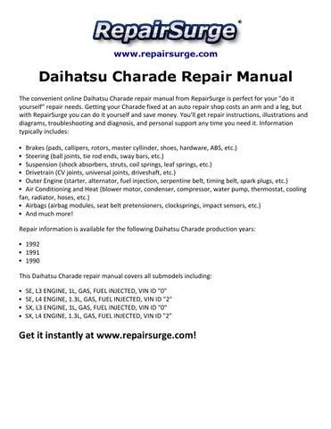 daihatsu charade repair manual 1990 1992 by stuart hemple issuu rh issuu com 1989 Daihatsu Charade Daihatsu Charade 2005 Tunned Body