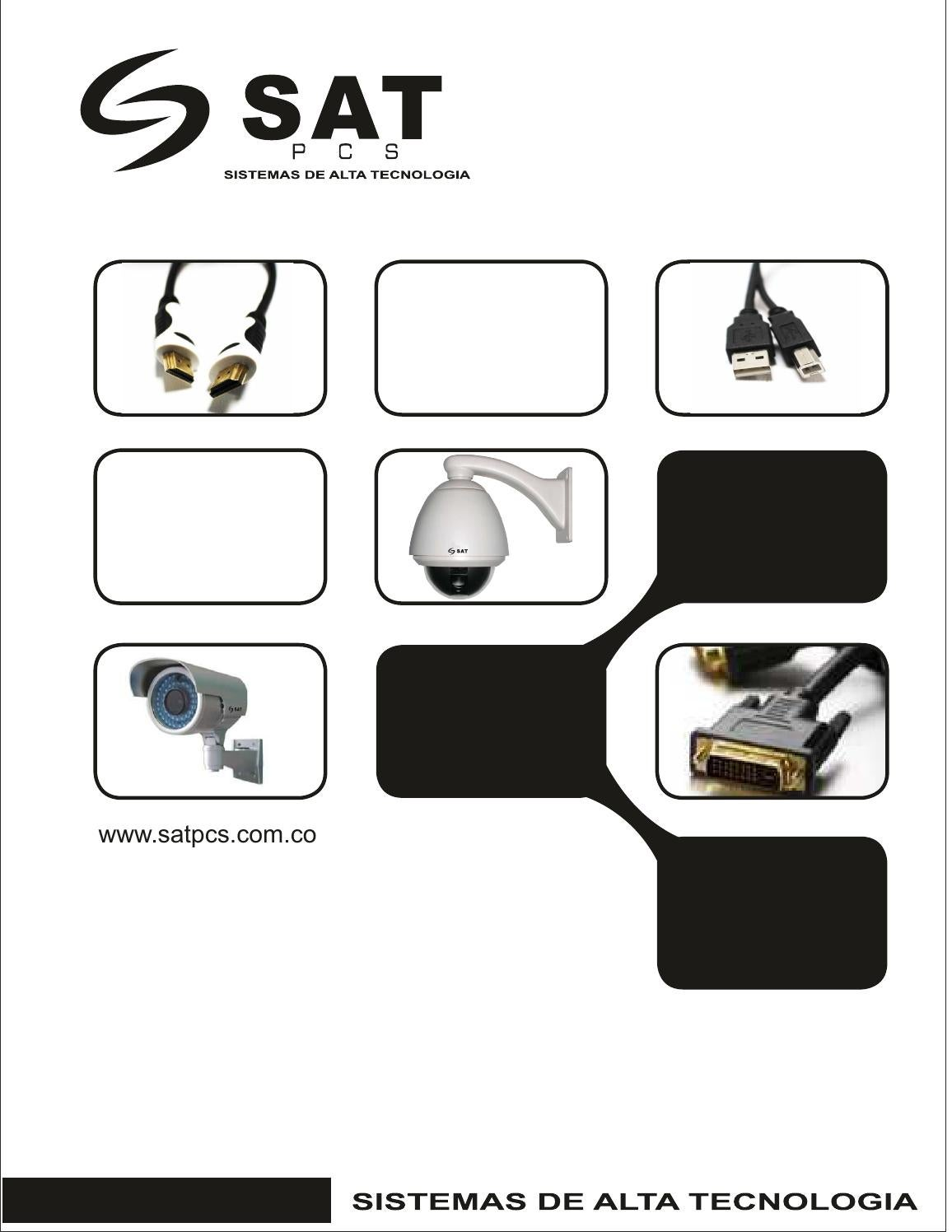 catalogo cables y cctv by sat pcs