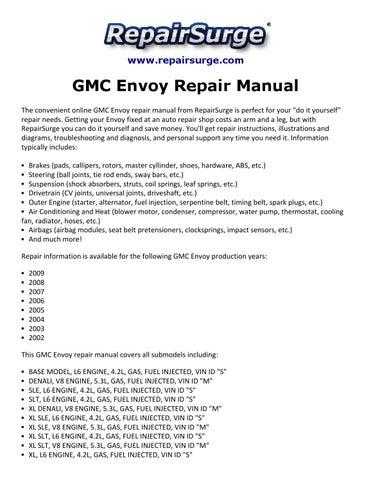 gmc envoy repair manual 2002 2009 by macy thomas168 issuu rh issuu com 2002 GMC Envoy Inside 2002 gmc envoy owner's manual