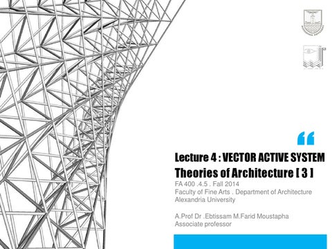 Theories 3 Week4 Vector Active System 1 By Ebtissam Farid