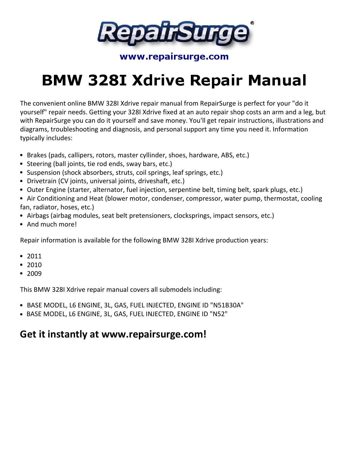 Bmw 328i Xdrive Repair Manual 2009 2011 By Adamsnth Issuu 2002 BMW E46  Diagram Kbus 2011 Bmw 328i Xdrive Engine Diagrams