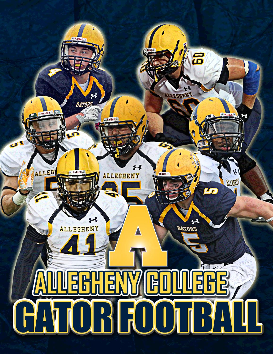 2014 15 allegheny college football recruiting brochure by. Black Bedroom Furniture Sets. Home Design Ideas