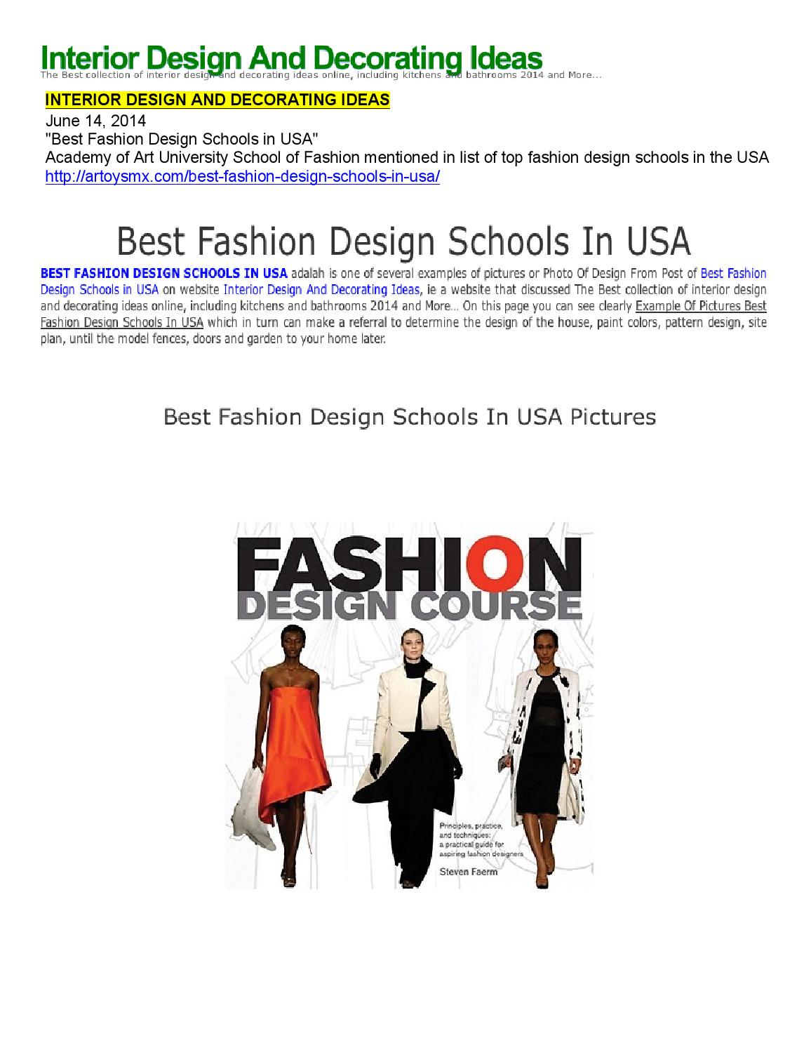 06 14 2014 Interior Design And Decorating Ideas By Academy Of Art University School Of Fashion Issuu