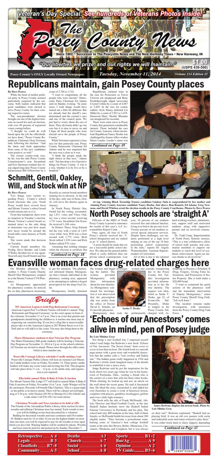 November 11, 2014 - The Posey County News by The Posey County News - issuu
