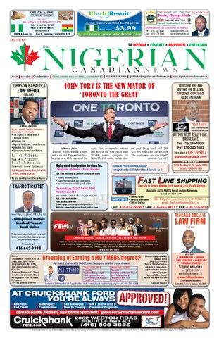 30ca9b6fb2ac0 October 2014 Edition by Nigerian Canadian News - issuu