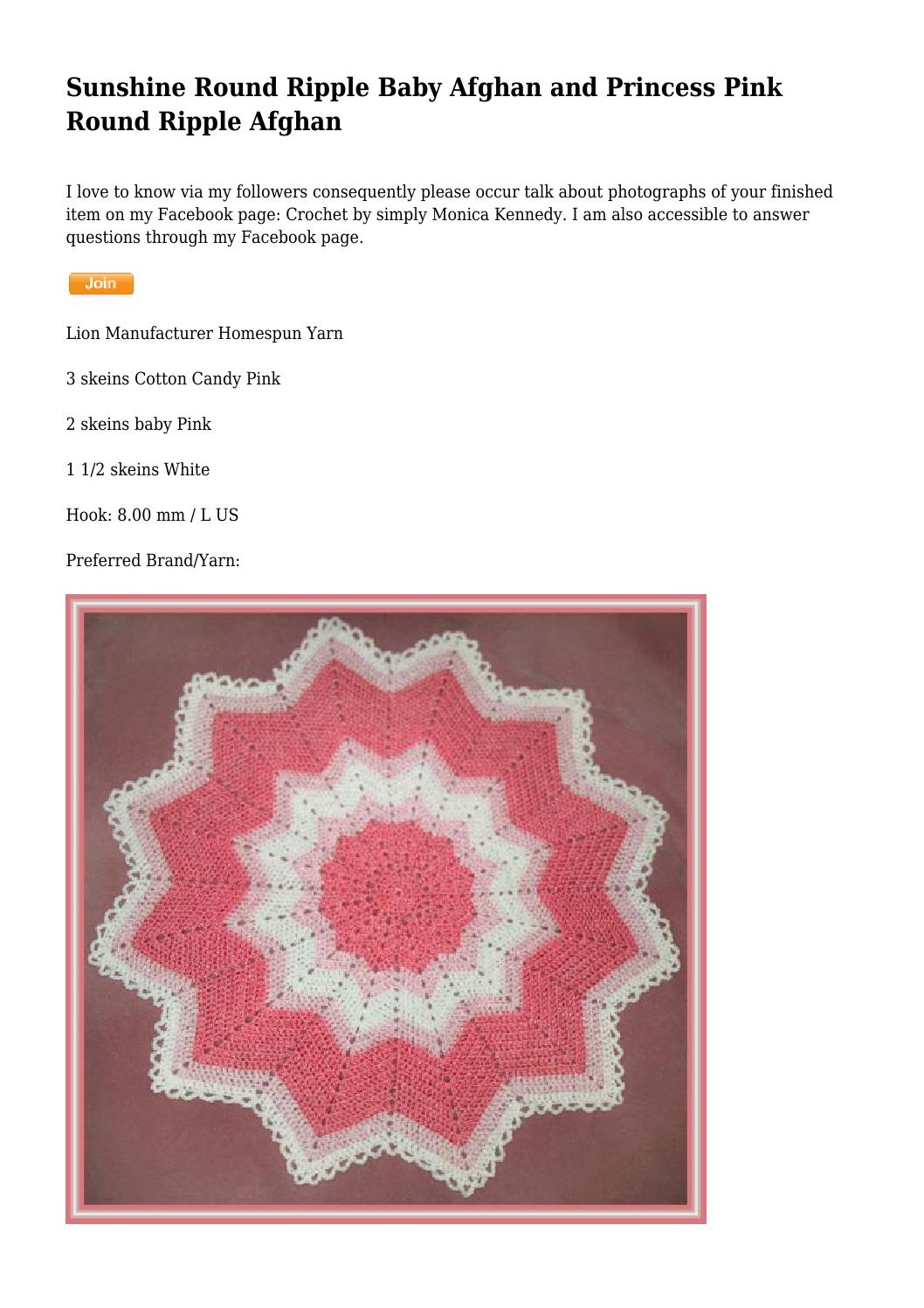 Sunshine Round Ripple Baby Afghan and Princess Pink Round Ripple ...