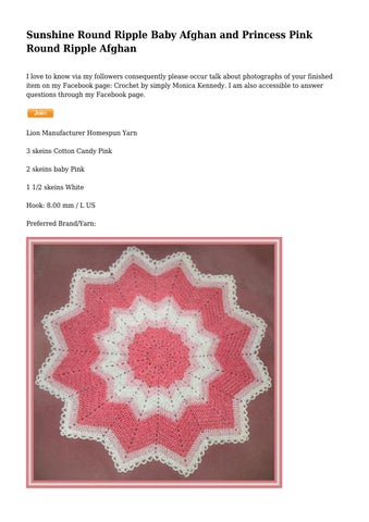 Sunshine Round Ripple Baby Afghan And Princess Pink Round Ripple