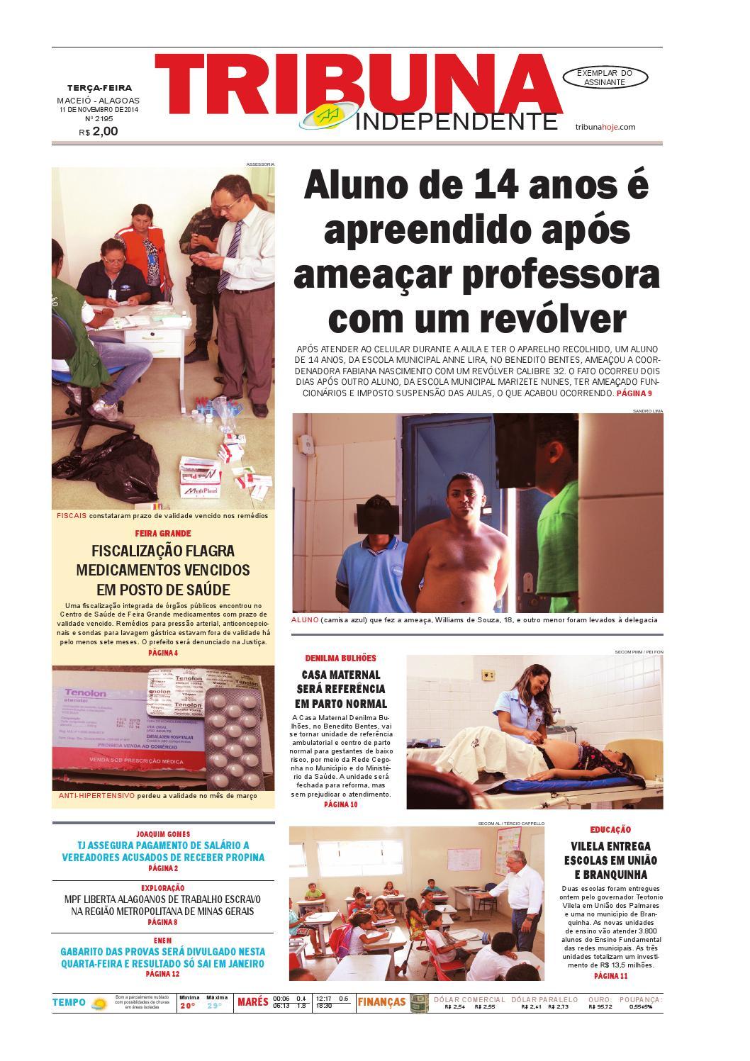 bede88bc712 Edição número 2195 - 11 de novembro de 2014 by Tribuna Hoje - issuu