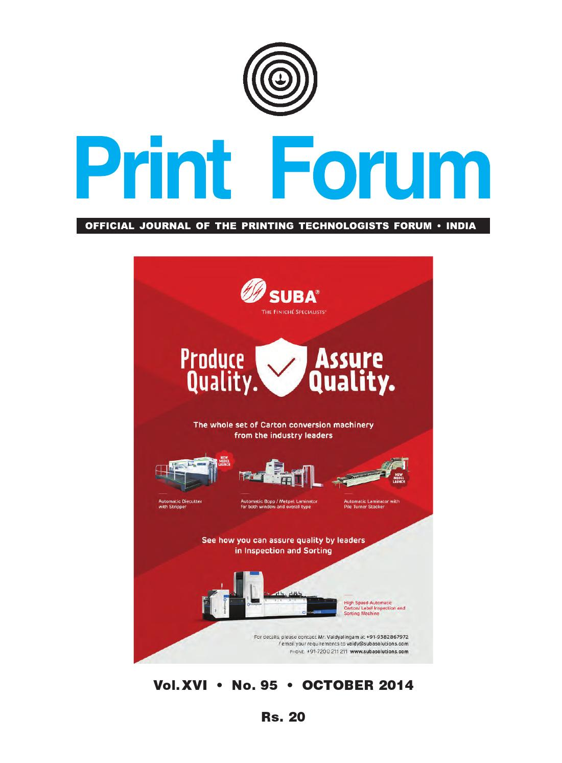 Pf Sept Oct 2014 E Version By Printforum Issuu Simple And Useful Led Circuits Srihari Rao