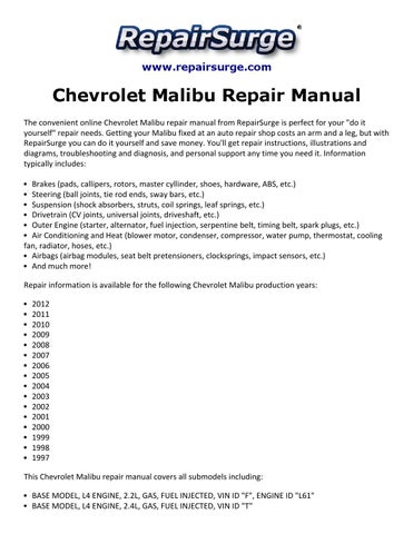 2012 malibu manual