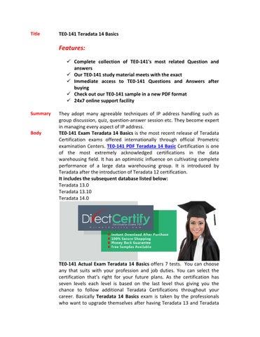 Te0 141 certification score by Clark Chan - issuu