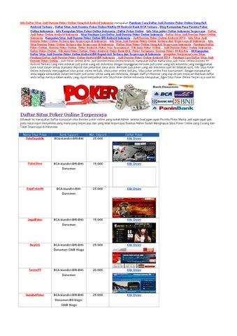 Kumpulan Daftar Nama Situs Judi Domino Poker Online 99 Android Terbaru Terlengkap Dan Terpercaya By Situs Poker Online Indonesia Issuu