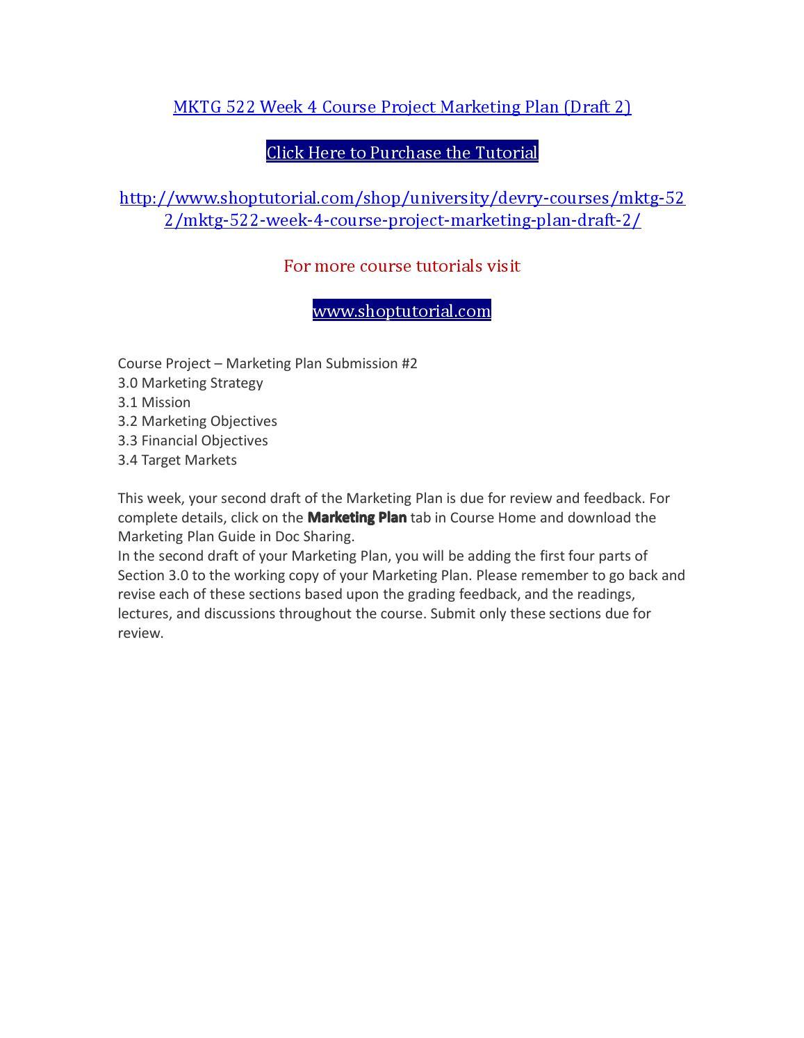 Marketing Plan Essay