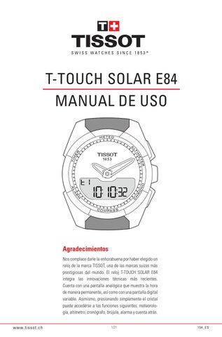 4762cca822c5 Manual del reloj tissot t touch expert solar by Joyería Miguel ...