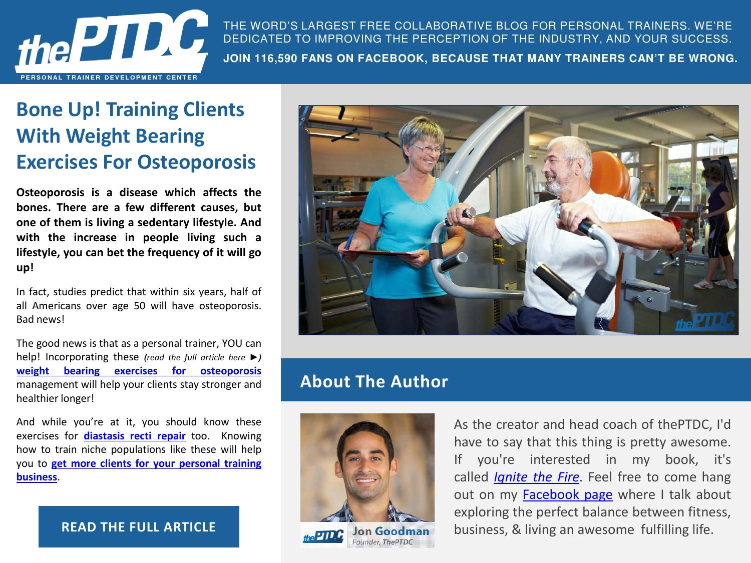 Bone Up! Training Clients with Weight-Bearing Exercises for