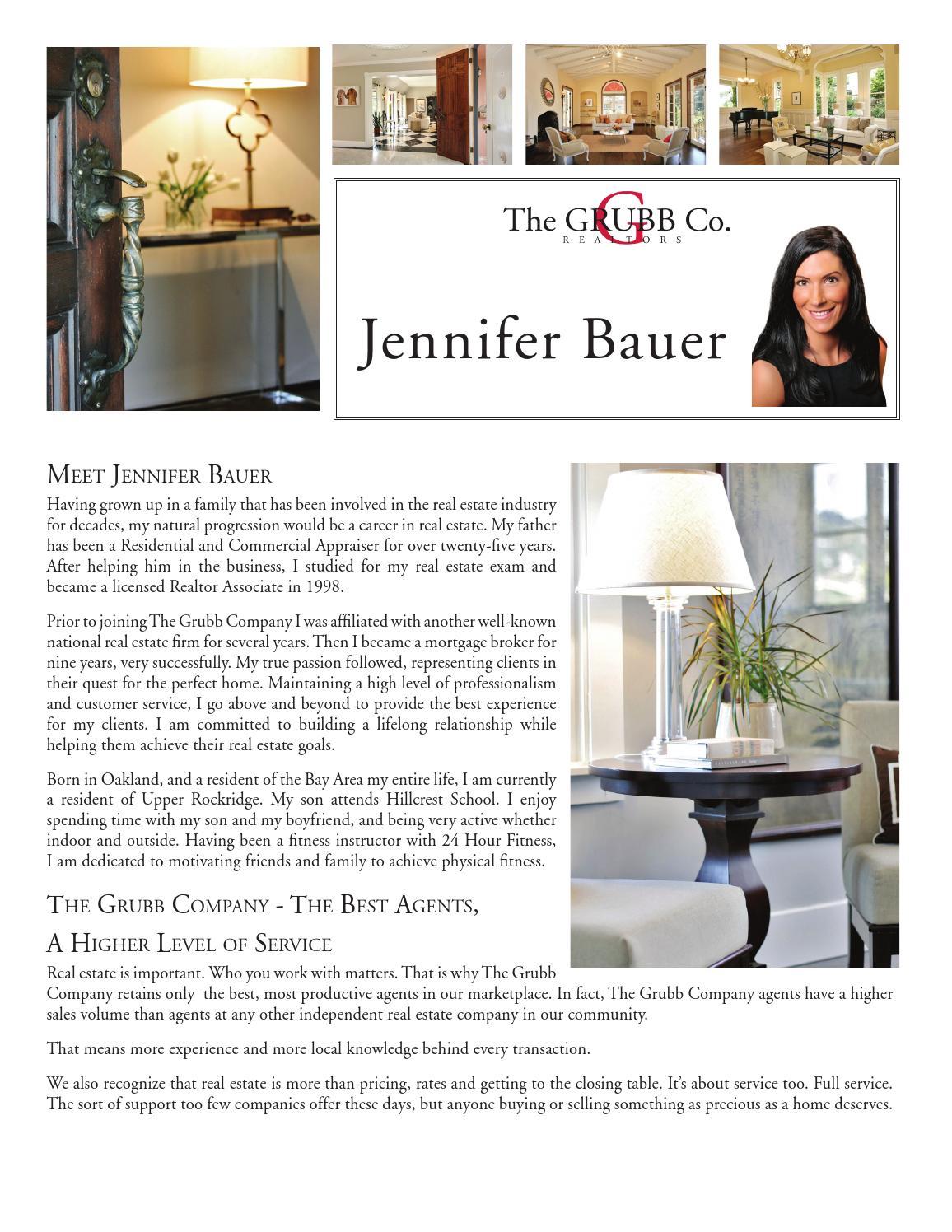 Meet Jennifer Bauer by The GRUBB Company - issuu
