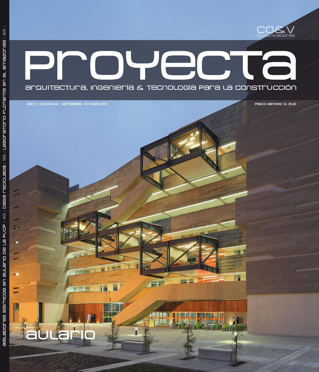 Revista proyecta ed 29 lima per by construcci n y for Arquitectura de interiores universidades