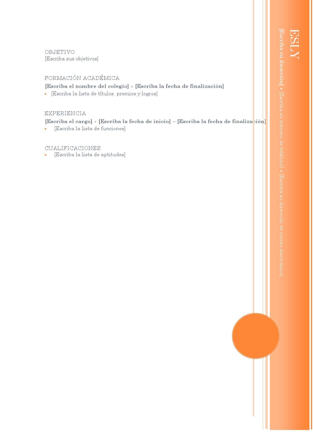 Plantilla curriculum mirador by esli reyes - issuu